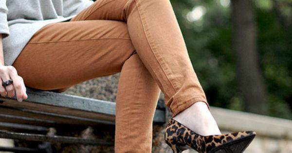 leopard heels, the lower height keep them from looking like hooker heels