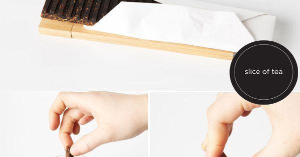 Packaging design idea: slice of tea