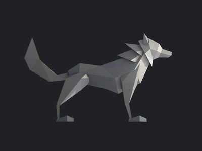 Low Poly Wolf (Side) | 【LOW PLOY】 in 2019 | Low poly, Low