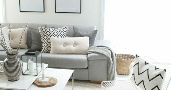 graues sofa und teppich wohnung pinterest grau. Black Bedroom Furniture Sets. Home Design Ideas