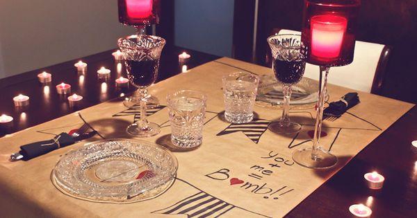 Ideas san valent n decoraci n mesa para una cena for Decoracion san valentin pinterest