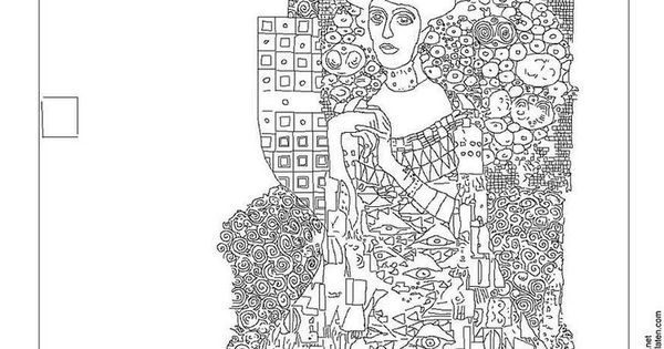 Free Printable Famous Art Colouring