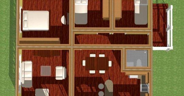 Plano de casa moderna de 150 m2 casas arq pinterest for Casa moderna 150 m2
