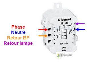 Cablage Branchement Telerupteur Legrand Unipolaire A Vis Pour Boitier De Derivation Voir Sch Electricite Schema Tableau Electrique Maison Schema Electrique