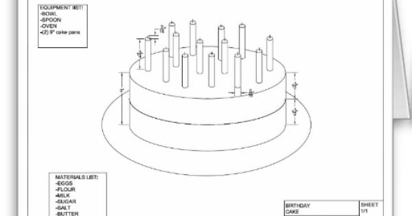 Architectural Birthday Cake Cards Architect Birthday