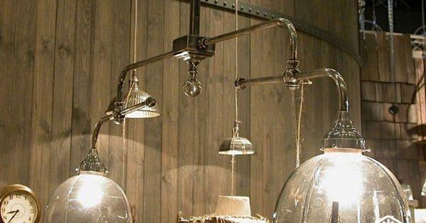 Pour une d coration industrielle lustre double suspension for Lustre double suspension