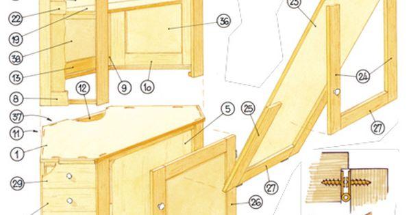 esstisch im schrank selbst bauen holzarbeiten m bel wohnen pinterest w nde. Black Bedroom Furniture Sets. Home Design Ideas