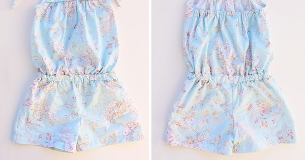 Little Girl Romper......not a beginners sewing project but I can handle it!