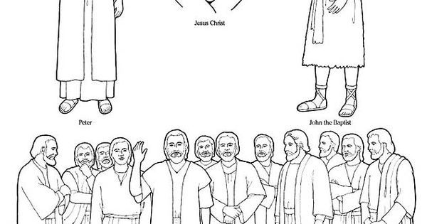 free lds clipart to color for primary children | Right ...