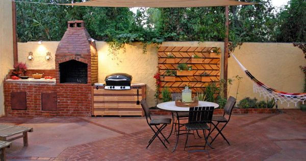 outdoor kitchen ideas on a budget pictures tips ideas. Black Bedroom Furniture Sets. Home Design Ideas