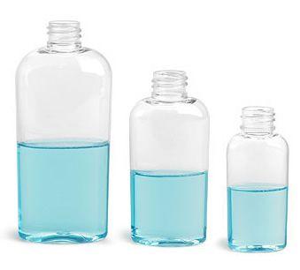 Buy Clear Plastic Tapered Vale Oval Bottles Plastic Bottles