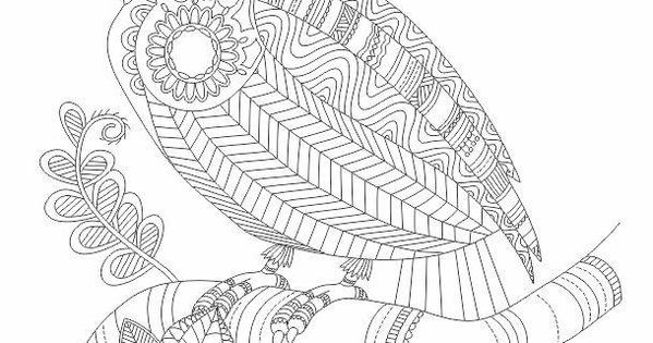 Abstract Bird Coloring Pages : Toucan bird abstract doodle zentangle coloring pages