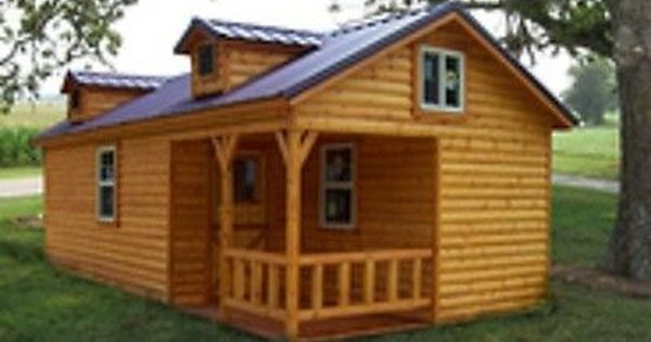 Amish Quality Log Sided Cabin Pre Built Delivered 14 X 28 Boone Model Tiny House Cabin Log Cabin Homes Cabin Homes