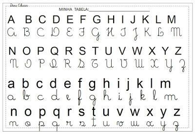 Tabela Do Alfabeto Com 4 Formas De Letras Letras Maiusculas E