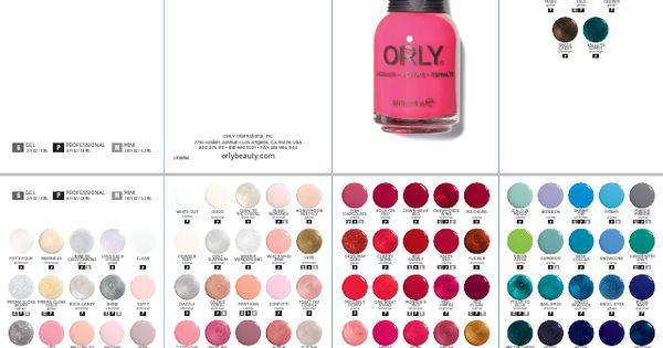 Orly Nail Polish Colour Chart Nails Gallery