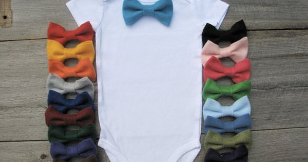Little man onesie idea-- make different color bow ties and attach with