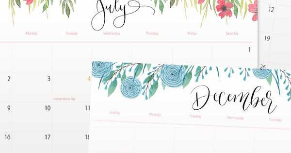 2017 Printable Wall, Desktop or Binder Calendars | Tips