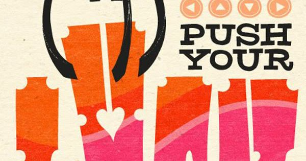 push your luck | typography poster design