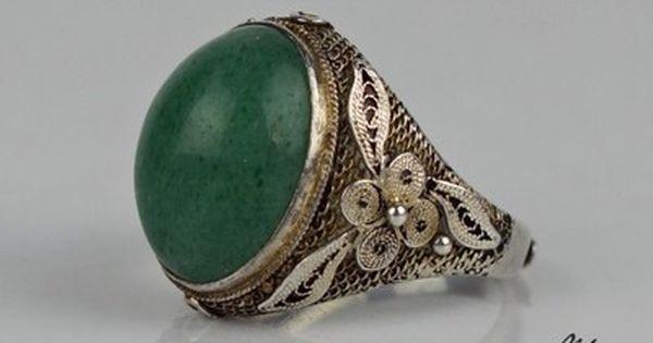 Unikatowy Srebrny Pierscionek Chinka Awenturyn 6766546519 Oficjalne Archiwum Allegro Gemstone Rings Jewelry Gemstones