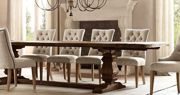 restoration hardware salvaged wood trestle table in. Black Bedroom Furniture Sets. Home Design Ideas
