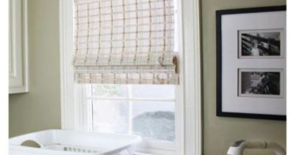 Home decorators collection white washed reed weave bamboo roman shade 46 in w x 48 in l Home decorators collection bamboo blinds