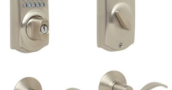 Schlage Electronic Door Lock Camelot Accent Keypad Residential Double Cylinder Electronic Deadbolt Schlage Electronic Deadbolt Deadbolt