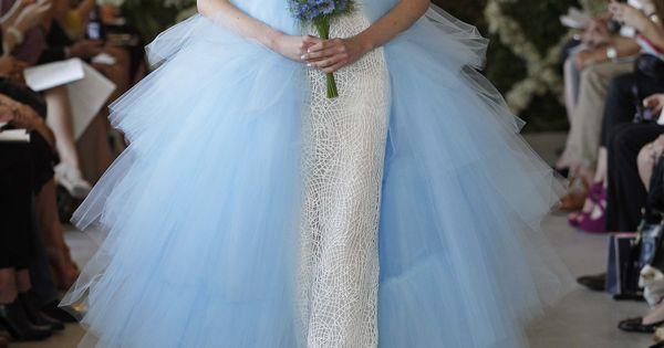 oscar de la renta spring 2013 blue wedding dresses FASHION BUSSINESS