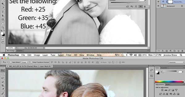 Portrait editing in photoshop. photography editing wedding portraiture