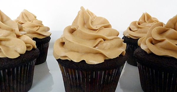 Dark Chocolate Cupcakes With Peanut Butter Frosting By Ina