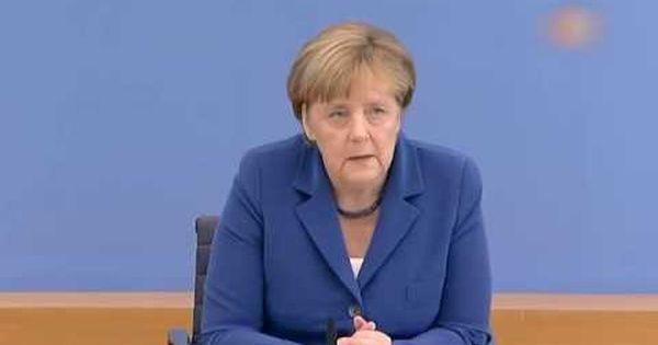 Kanzlerin Merkel Sommer Pressekonferenz Merkel Angela Merkel Gewalt