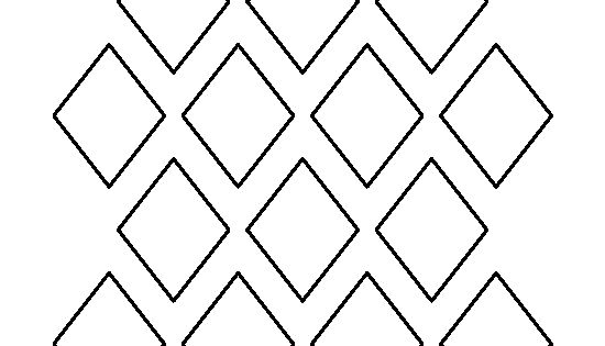 2 Inch Diamond Pattern. Use The Printable Outline For