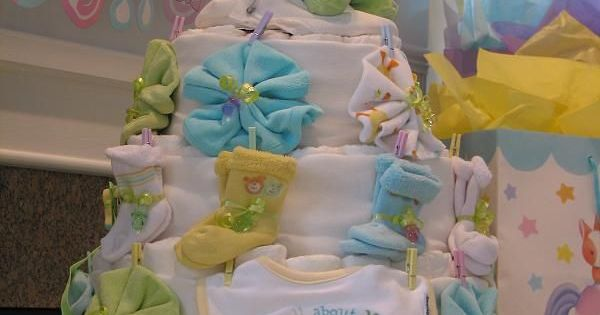 Baby Shower Gifts That Are Useful ~ Diaper cake baby shower gift unique boy girl male
