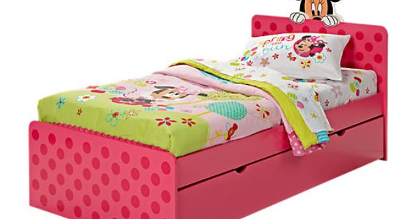 Shop for a Minnie Mouse 4 Pc Twin Bed w Trundle at Rooms To Go