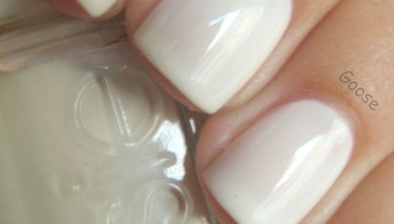 Essie Marshmallow nail polish white wedding elegant cream pure