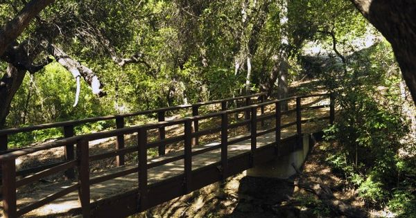 Trail At The Conejo Botanical Gardens In Thousand Oaks California That Extends Across This