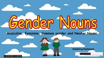 Powerpoint Slides Gender Nouns Masculine Feminine Neuter Common Gender Nouns Nursing School Prerequisites Gender