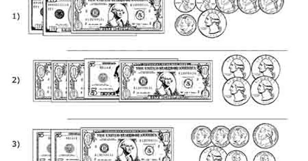 Black And White Money Worksheets : Free printable black white worksheets for preschool