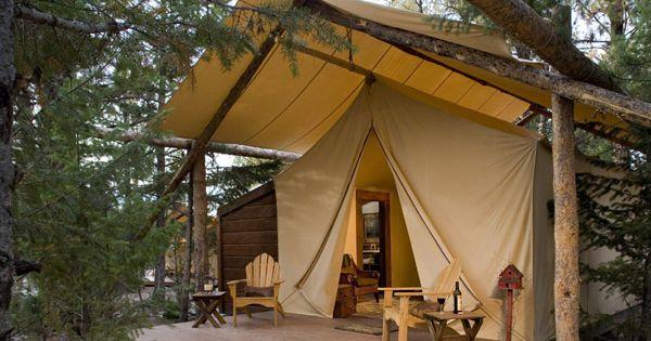 Semi permanent camping tents farmhouse landscape gardens for Permanent camping tents
