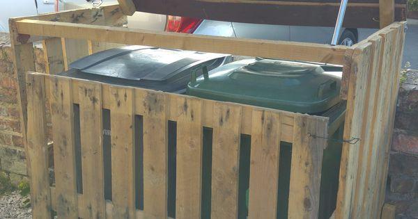 Pallet Garbage Bin Storage Shed Pallet Ideas Bin