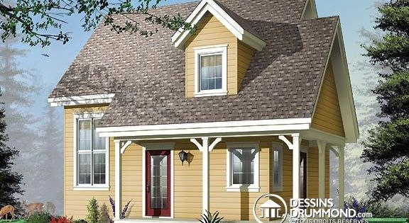 Plan de maison unifamiliale w3505 maison prix abordable - Maison pour deux familles ...