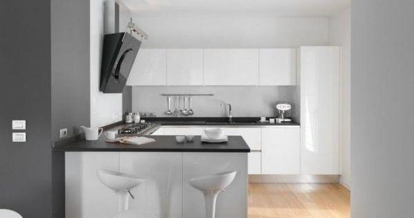 Hochglanz Küche schwarze arbeitsplatte hochglanz weiß abzugshaube - k che wei matt grifflos