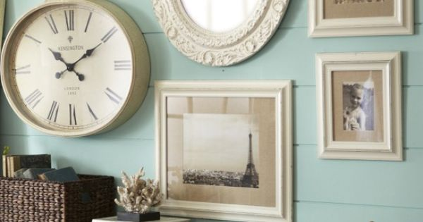 Clock And Mirror Wall Decor Living Room