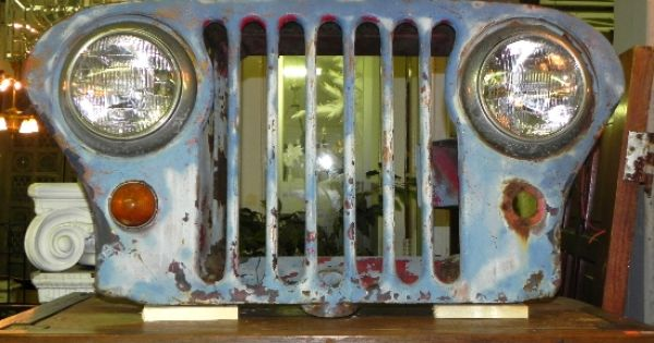 Man Cave Antiques Artifacts : S vintage flat front willys overland jeep grill