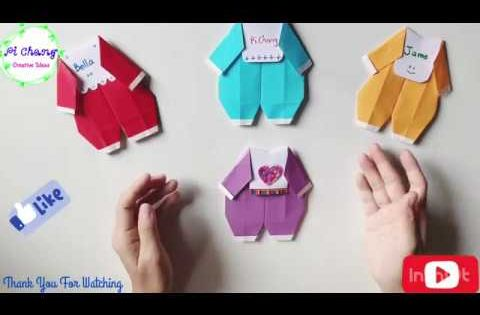 How To Make A Baby Suit Paper Origami Baby Clothes Youtube Origami Clothing Origami Paper Crafts Diy Kids