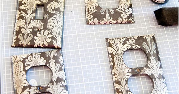 Scrapbook paper outlet covers. such a cute idea!