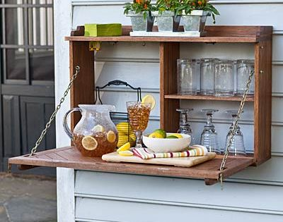 this is a super cute idea for a drink station for an