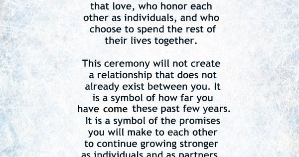 Non-Religious, Short And Sweet Wedding Ceremony Script