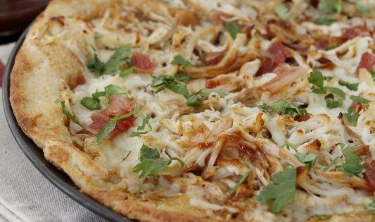 Leftover BBQ Turkey Pizza