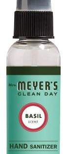 Mrs Meyer S Basil Clean Day Hand Sanitizer 2 Fl Oz Cleaning