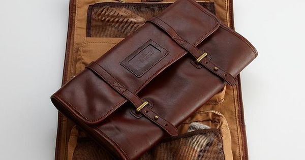Leather excursion travel kit. It might be a man's bag but I